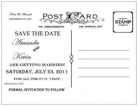 back of postcard template photoshop diy save the dates weddingbee photo gallery