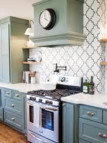 Distressed Green Kitchen Cabinets - photos hgtv s fixer upper with chip and joanna gaines hgtv