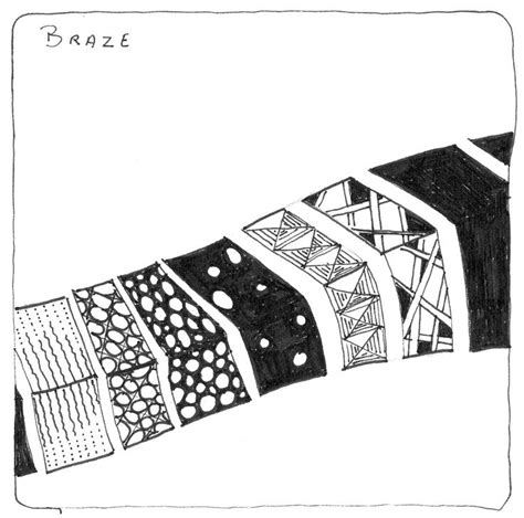 zentangle pattern braze pin by didier gervy on zt pratiques et variantes pinterest