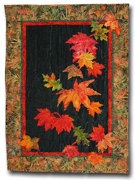 fall leaves applique wall hanging quilts fabric