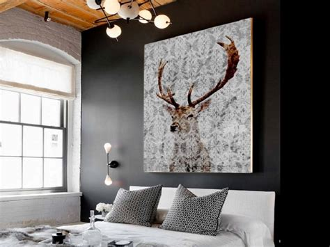 stag wall and antler wall decor homegirl