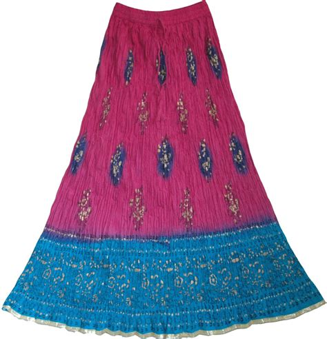 Indian Skirt 5 ethnic indian hibiscus skirt clearance