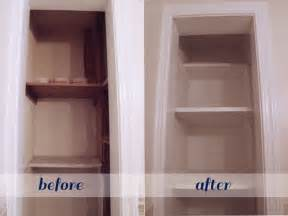 Bathroom Closet Shelving Ideas by Beautifully Contained Bathroom Closet Makeover
