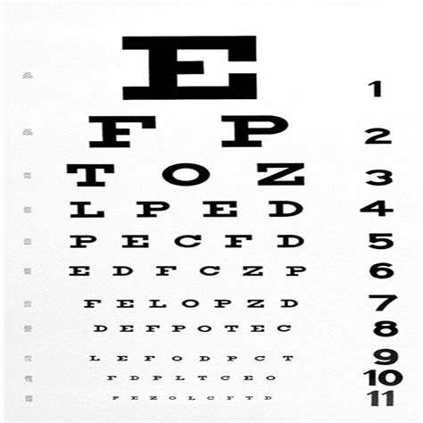 Snellen Chart Black Printing printable eye chart pdf www imgkid the image kid