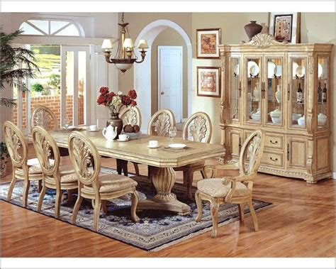 mcferran home furnishings 9pc formal pedestal dining