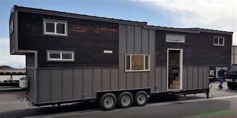 The Tiny Giant A Tiny House Built Onto A 30 Ft Gooseneck Tiny House Gooseneck Trailer