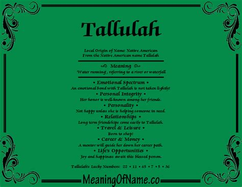 Meaning Of by Tallulah Meaning Of Name