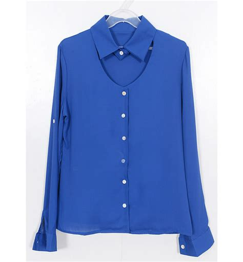 Blouse Blue blue blouse fashion ql