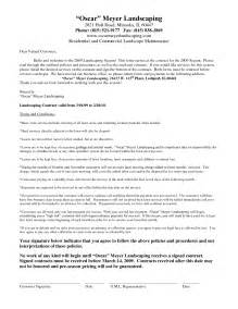 landscaping contract template best photos of printable landscaping contracts