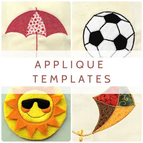 free applique applique templates sewing spark