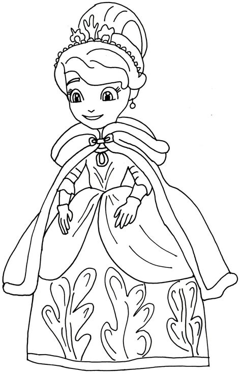 sofia the first coloring pages winters gift sofia the