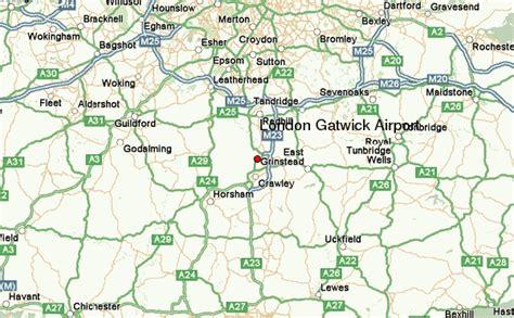 London Gatwick Airport Location Map | london gatwick airport location guide