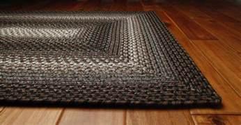 Braided Area Rugs Homespice Decor Ultra Durable Braided Rectangular Black