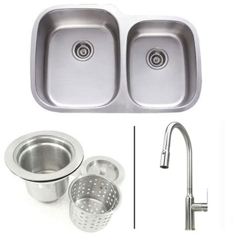 kitchen faucet and sink combo 32 inch stainless steel bowl kitchen sink and lead