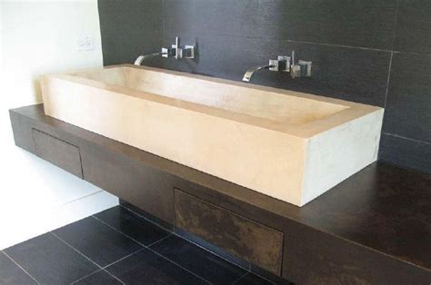 Long Bathroom Sink With Two Faucets » Home Design 2017
