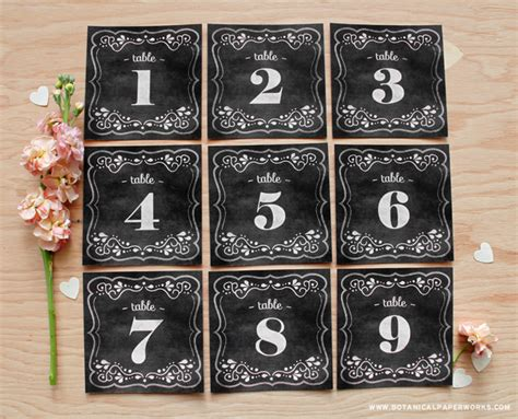 free printable vintage numbers gallery printable vintage table numbers