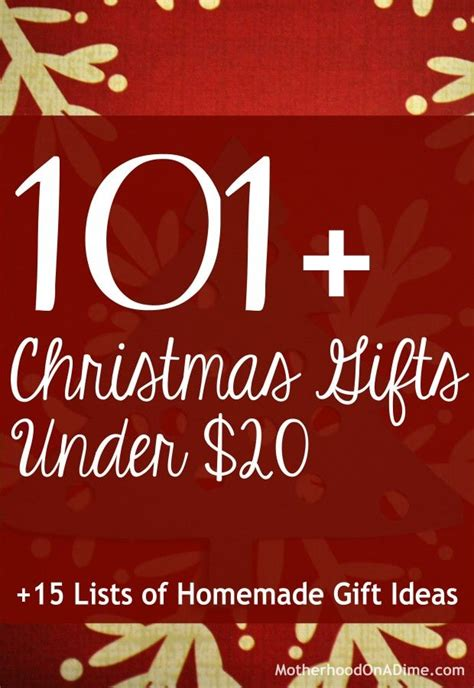 101 christmas gift ideas for under 20 diy christmas