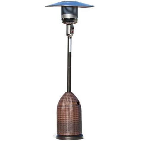 Gas Patio Heater Cover Sense 46 000 Btu Mocha Propane Gas Patio Heater With All Weather Wicker Tank Cover 60763