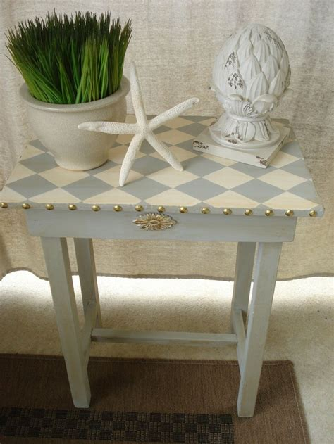 harlequin home decor vintage hand painted harlequin accent side table rustic