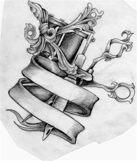 machinery tattoo design and machine