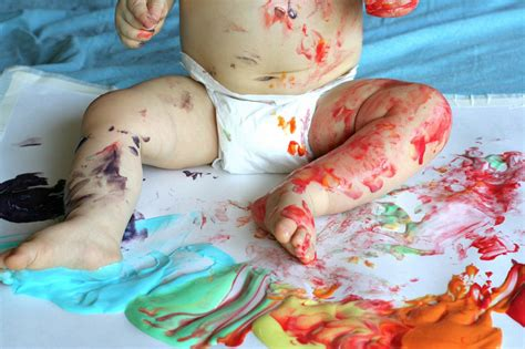 painting baby scented edible no cook fingerpaint recipe for babies and