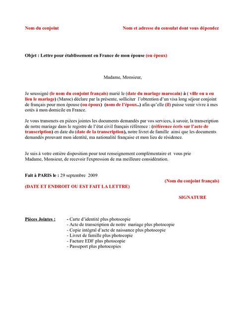 Modele De Lettre Au Consulat De