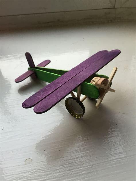 aeroplane   lollipop sticks  recycled
