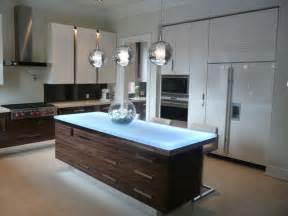 Contemporary Island Kitchen Glass Island Contemporary Kitchen Islands And Kitchen Carts Toronto By Cbd Glass Studios