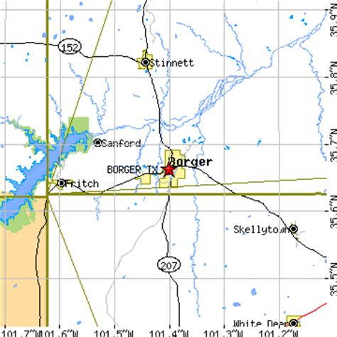 map of borger texas borger texas tx population data races housing economy