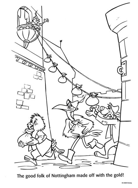 17 Best Images About Robin Hood Coloring Pages On Disney Robin Coloring Pages