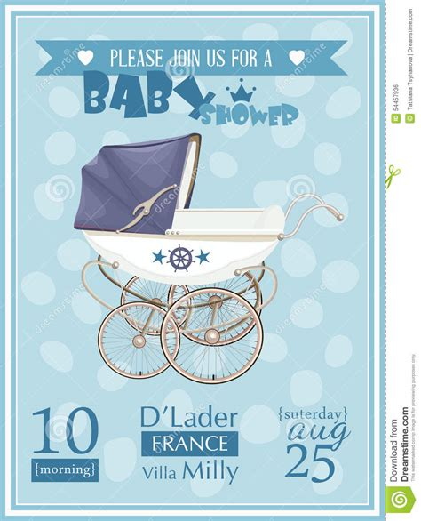 invite baby shower vector baby shower boy invitation template vector illustration