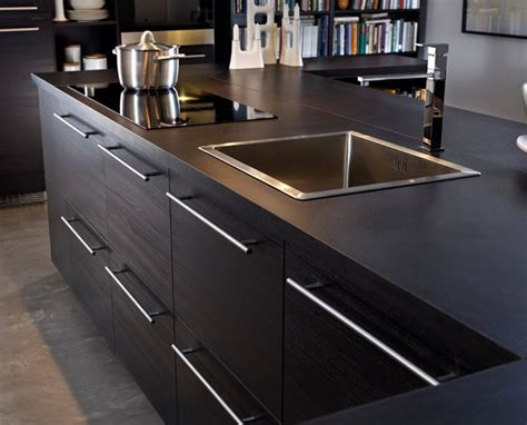 Kücheninsel Wood Top by 25 Best Ideas About Black Kitchen Island On