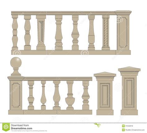 Victorian House Plans Free flat balusters set royalty free stock photos image 31942918