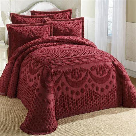 Cotton Bedspreads 100 Cotton Textured Chenille Lattice Medallion Bedspread