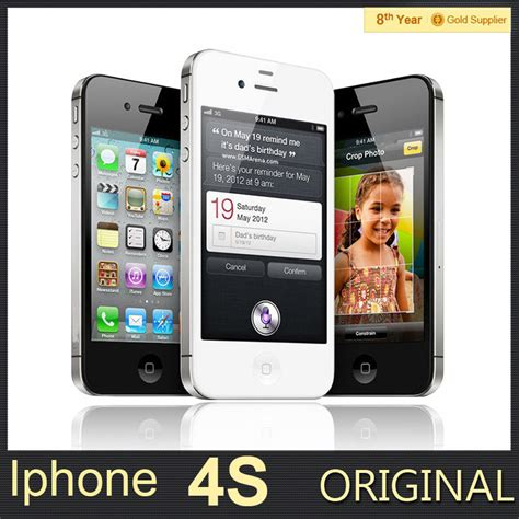 Iphone 4 Original 100 Apple Iphone4s Ha 100 original unlocked iphone 4s mobile phone 16gb 32gb 64gb rom dual wcdma 3g wifi gps 8mp
