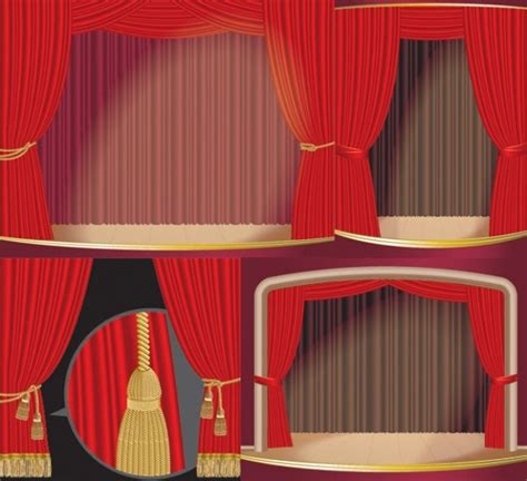 graphic curtains stage curtain vector free vector in encapsulated