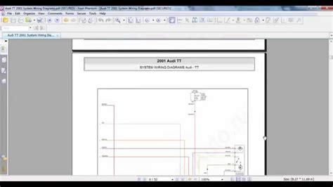 audi tt 2001 system wiring diagrams