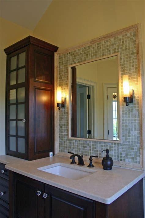 ideas   mosaic tile  bathroom mirror
