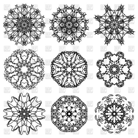 snowflake pattern clipart vector template 187 snowflake stencil vector free vectors