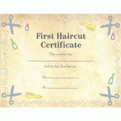 First Haircut Certificate Printable » Home Design 2017