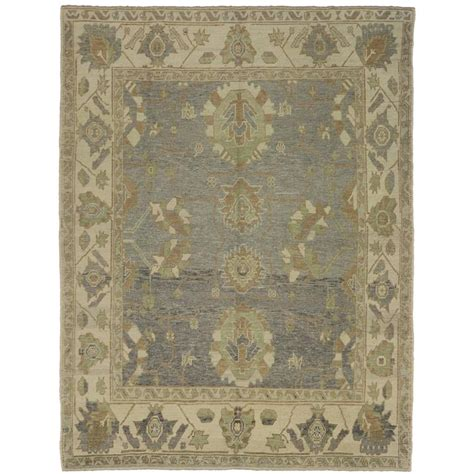 neutral color rugs modern turkish oushak rug with transitional style and