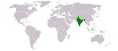 World Map And India by India Location World Map Maps Of India