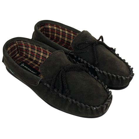mens designer slippers mens dunlop moccasin suede leather slippers gents