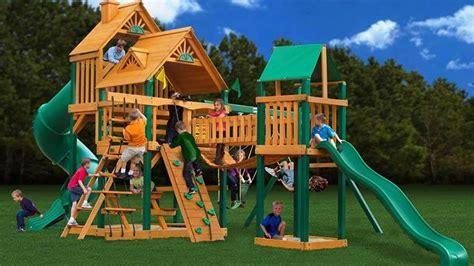 best backyard play structures 10 best wooden playsets swing sets 2018 heavy com