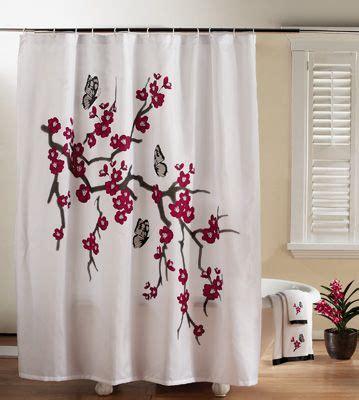 Cherry Blossom Curtains Cherry Blossom Shower Curtain Cherry Blossom Cherries Bathroom Showers And
