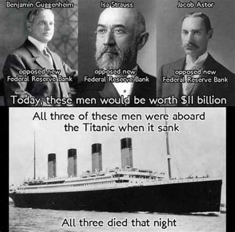 who owns the federal reserve bank the rothschild s sank the titanic to set up the federal