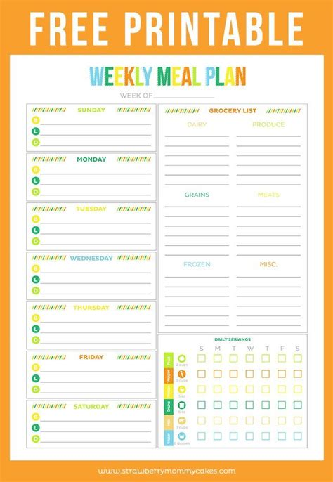printable meal planning menu 1000 ideas about weekly meal planner on pinterest meal