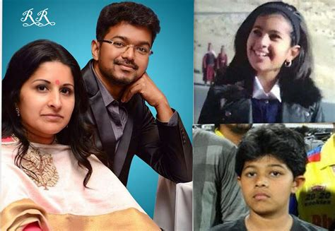 actor vijay daughter recent photos vijay with family son and daughter rare unseen personal