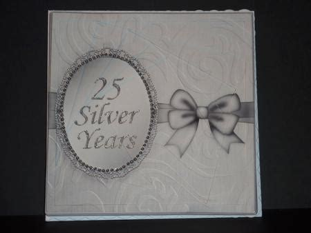 silver wedding anniversary printable cards 8 x 8 silver wedding anniversary twisted tunnel card kit