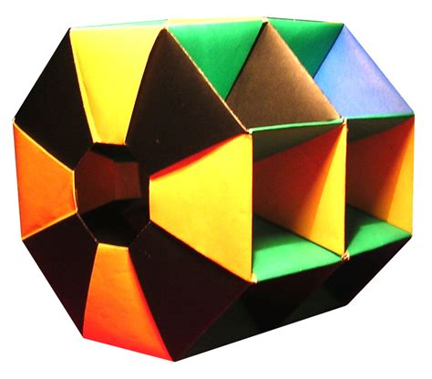 Unit Polyhedron Origami - lets make origami octagonal rings structure by tomoko fuse